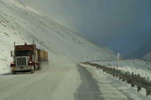 truckload carrier shipping in snow